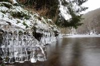 Rivière dans la glace : Paysage, Ardennes, Rivière, Hiver, glace